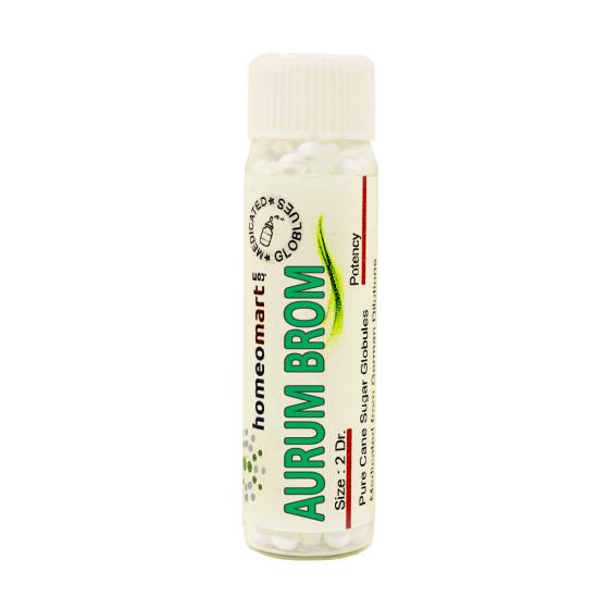Aurum Bromatum Homeopathy 2 Dram Pellets 6C, 30C, 200C, 1M, 10M