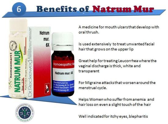 image of Natrum Muriaticum homeopathy medicine bottles in pills, tablets with iindications