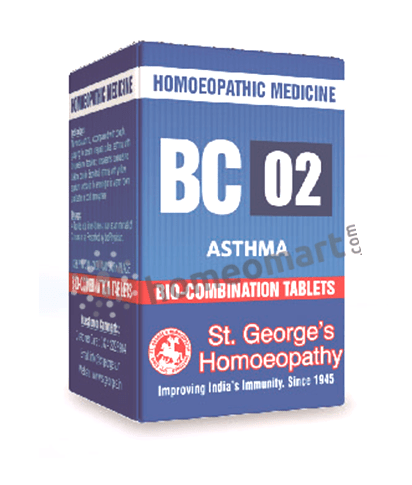 St. George's Biocombination 02 (BC01) tablets for Asthma, Breathlessness