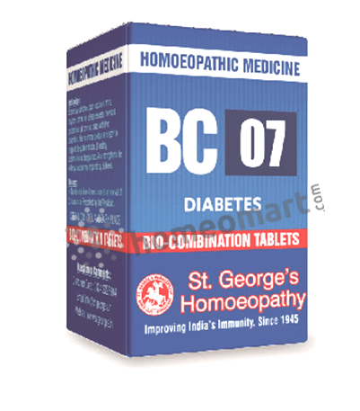 St. George's Biocombination 07 (BC07) tablets for diabetes, high blood sugar