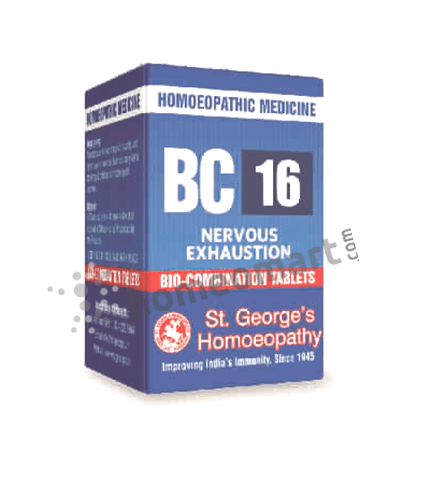 St. George's Biocombination 16 (BC16) tablets for Nervous Exhaustion