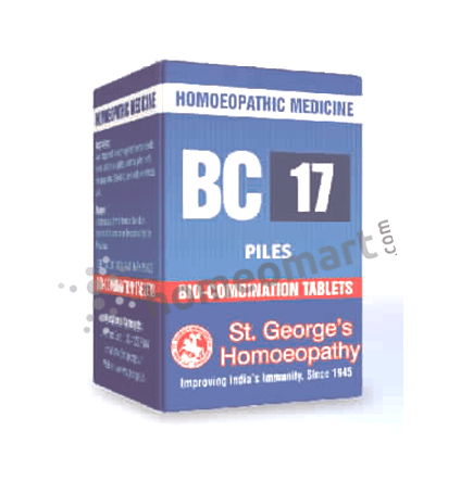 St. George's Biocombination 17 (BC17) tablets for Piles