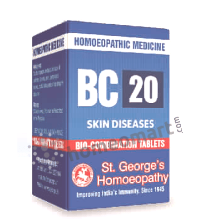 St. George's Biocombination 20 (BC20) tablets for skin diseases