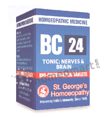 St. George's Biocombination 24 (BC24) tablets for nerves & brain