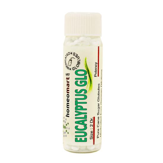 Eucalyptus Globulus Homeopathy 2 Dram Pellets 6C, 30C, 200C, 1M, 10M