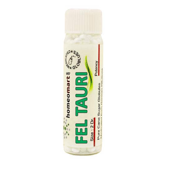 Fel Tauri Homeopathy 2 Dram Pellets 6C, 30C, 200C, 1M, 10M