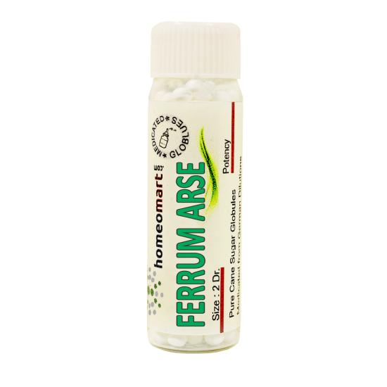 Ferrum Arsenic Homeopathy 2 Dram Pellets 6C, 30C, 200C, 1M, 10M