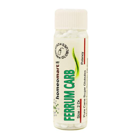 Ferrum Carbonicum Homeopathy 2 Dram Pellets 6C, 30C, 200C, 1M, 10M