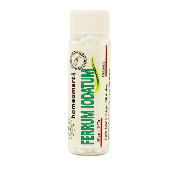 Ferrum Iodatum Homeopathy 2 Dram Pellets 6C, 30C, 200C, 1M, 10M
