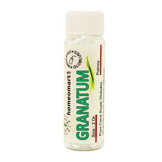 Granatum Homeopathy 2 Dram Pellets 6C, 30C, 200C, 1M, 10M