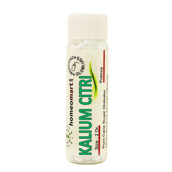 Kalium Citricum Homeopathy 2 Dram Pellets 6C, 30C, 200C, 1M, 10M