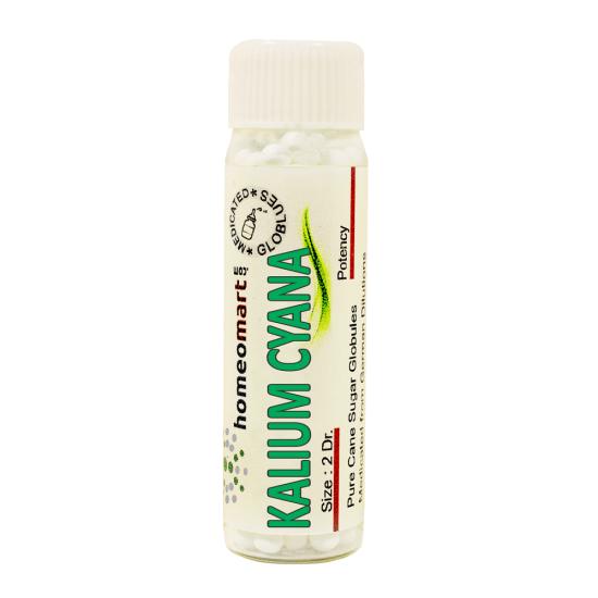 Kalium Cyanatum Homeopathy 2 Dram Pellets 6C, 30C, 200C, 1M, 10M