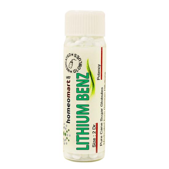 Lithium Benzoicum Homeopathy 2 Dram Pellets 6C, 30C, 200C, 1M, 10M
