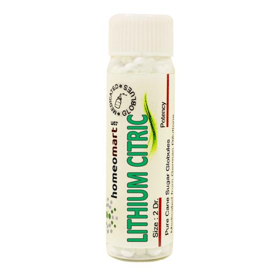 Lithium Citricum Homeopathy 2 Dram Pellets 6C, 30C, 200C, 1M, 10M