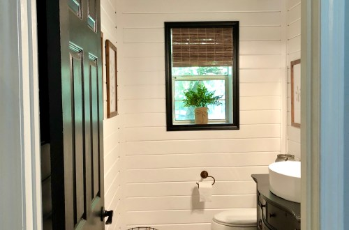 Modern Farmhouse Powder Room Reveal