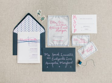 Photography by Rachel May Photography Calligraphy by Ma Belle Calligraphy