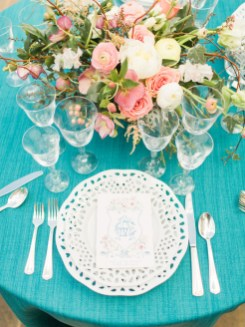Photography by Rachel May Photography Watercolor by Gina Langford Calligraphy by Jodi Macfarlane Calligraphy Floral design by Good Earth Flowers Rentals by Classic Festive Fare