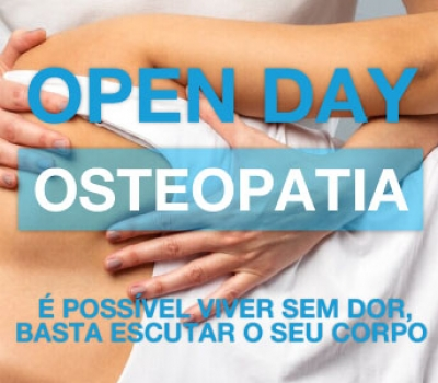 OPEN DAY – Osteopatia – 17 de Maio de 2018