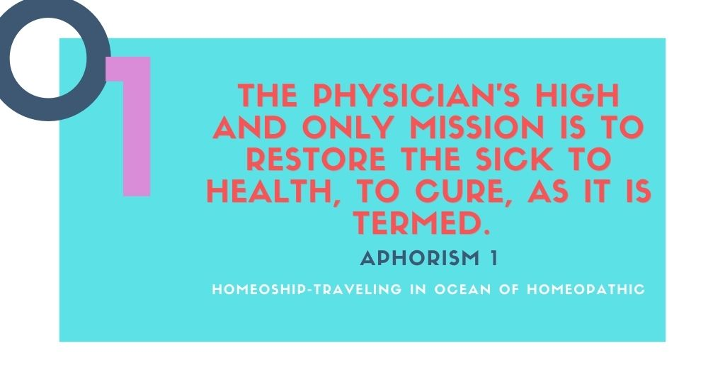 The physician's high and only mission is to restore the sick to health, to cure, as it is termed.