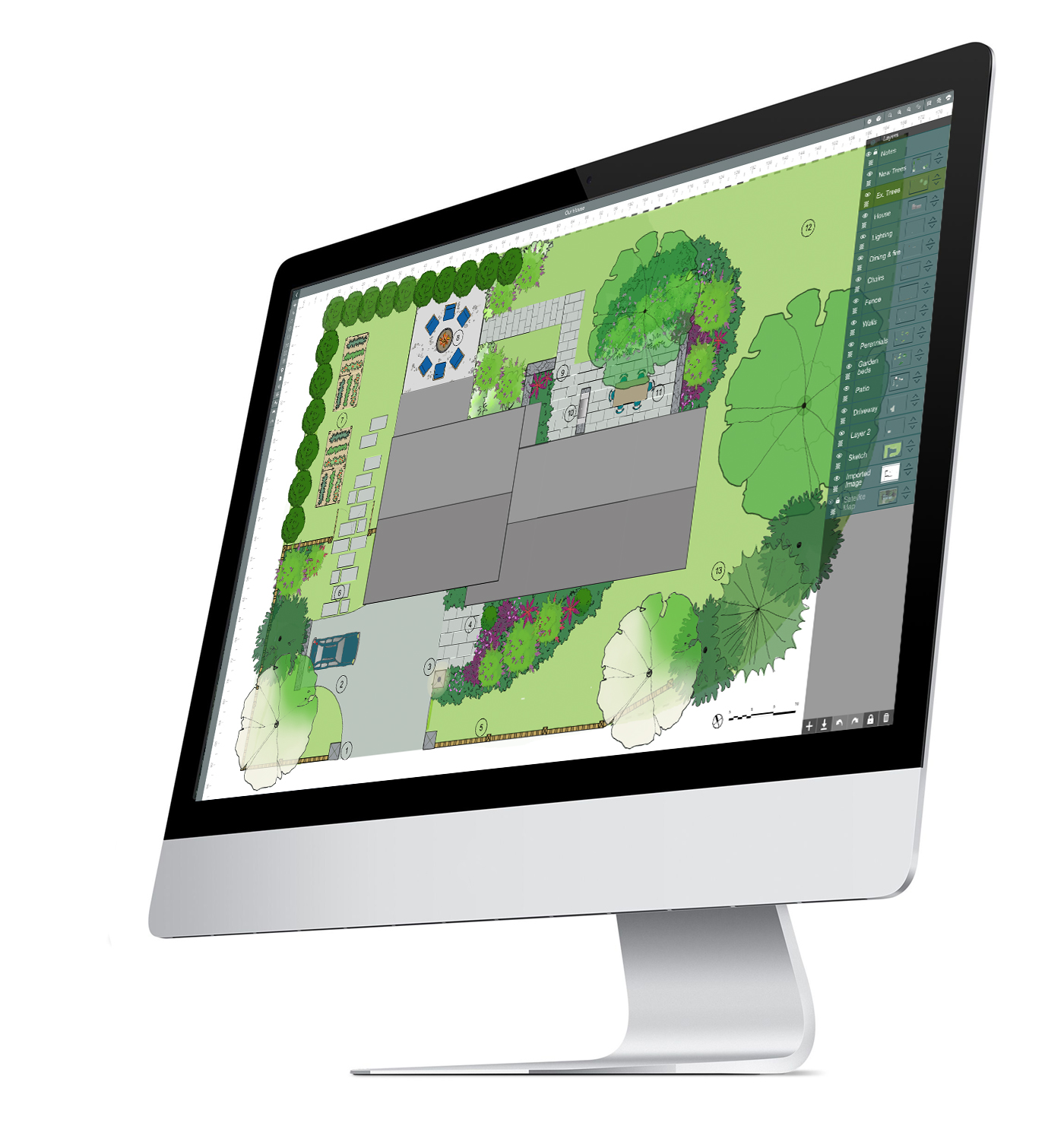 landscape software on Mac desktop computer