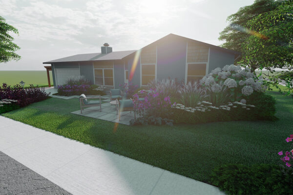 Home-outside-landscape-design-Idaho-3D-Views-front-yard-design-corner-view