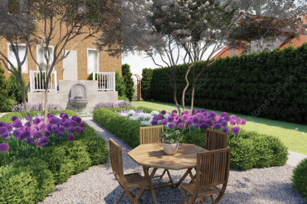 Home-outside-landscape-design-West-Virginia-3D-Views-formal-garden-bed