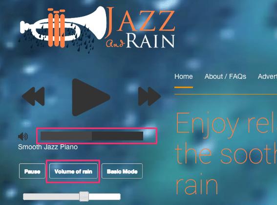 Jazz rainボリューム