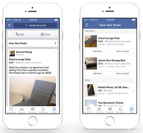 参照元:Introducing New Features in Facebook Groups to Improve the Way People Buy and Sell | Facebook Newsroom