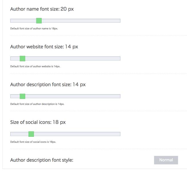 Simple Author Boxのフォント設定2