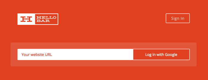 WEBサイトにツールバーを表示できる「Hello Bar」