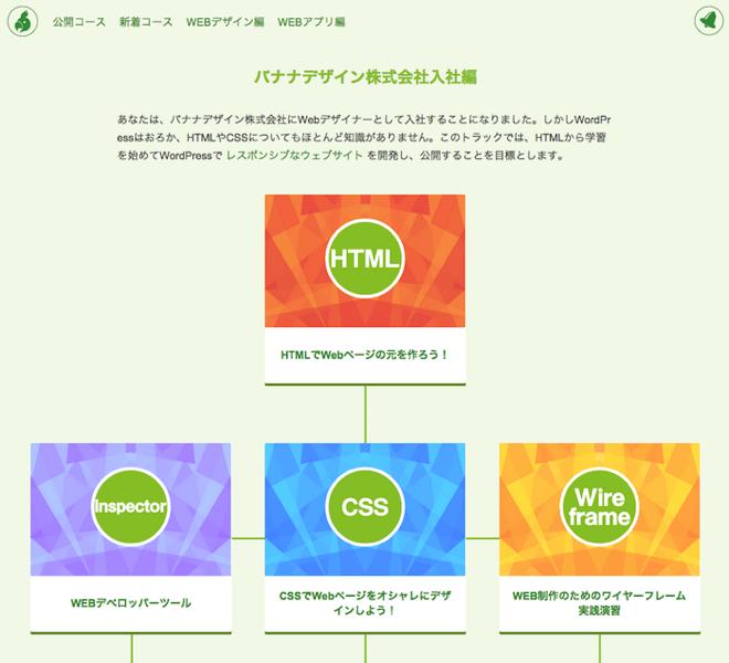 「シラバス」のWEBデザイン編
