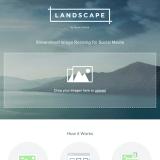 クリックするだけで各ソーシャルメディアに合った画像サイズにリサイズできる「LANDSCAPE」