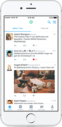 Twitter ダッシュボードアプリ