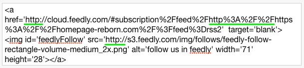 Feedlyのコードの修正箇所