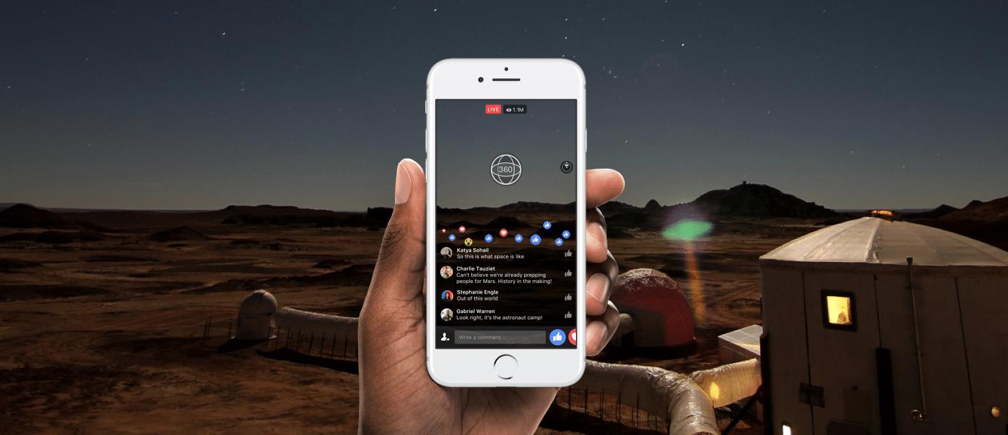 Facebookライブが360°映像に対応「Live 360」