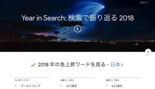 Google検索の「2018年の急上昇ワード」不祥事の話題が上位にランクイン。
