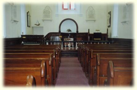 Inside the Embury Heck Memorial Church at Ballingrane