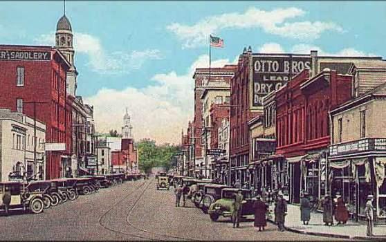 Putnam Street From Front Street Marietta, Ohio - Image Copyright Ancestry.Com