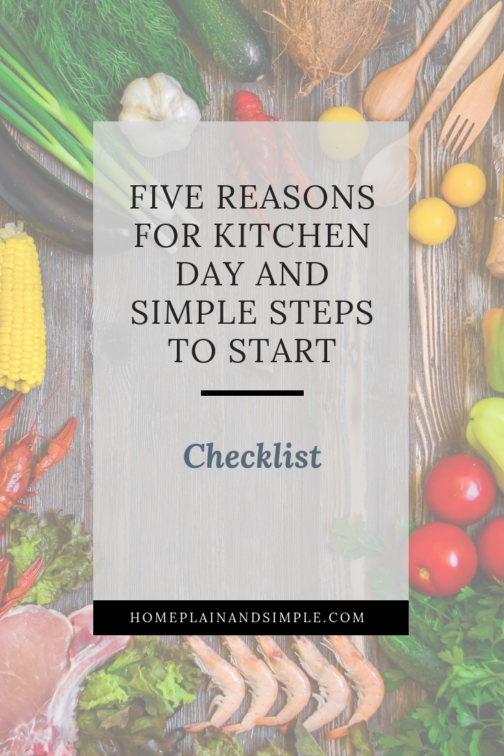 Checklist of simple steps to start a kitchen day routine