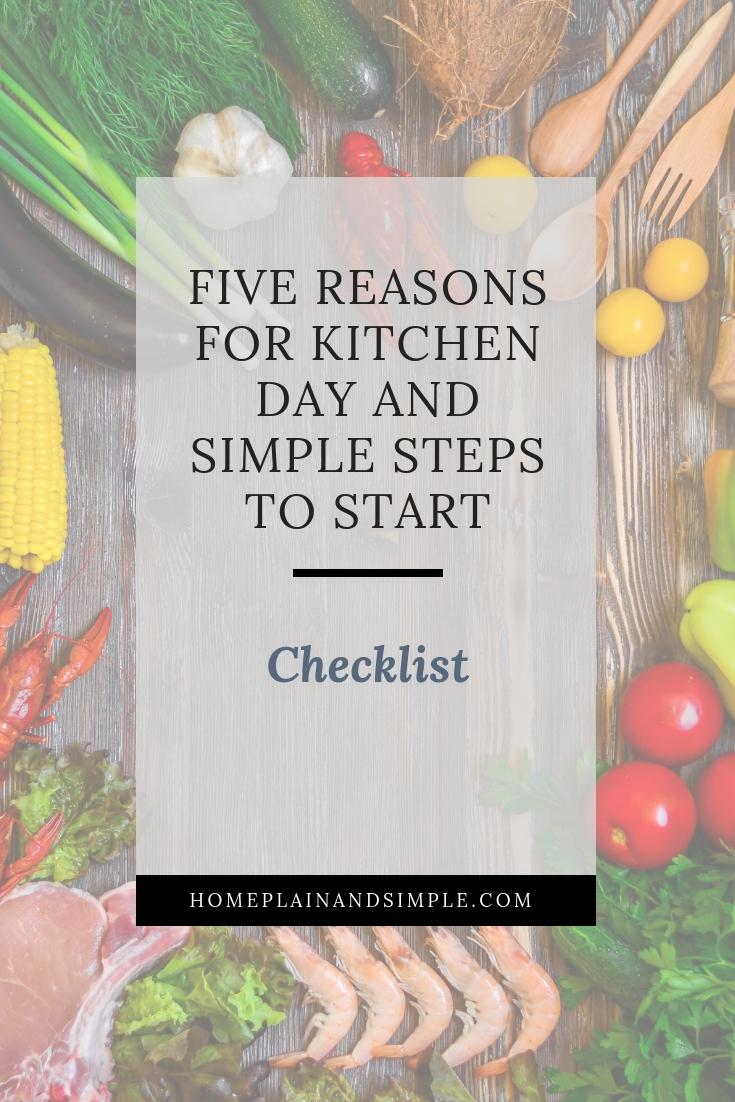 Checklist of simple steps to start a kitchen day routine