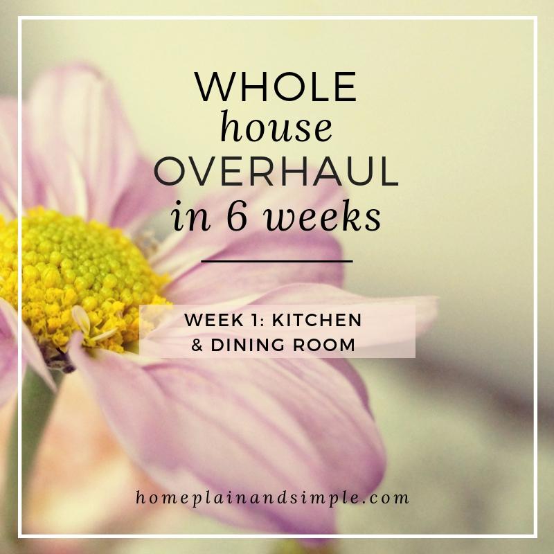 Whole House Overhaul in 6 Weeks. Week One- Kitchen & Dining Room