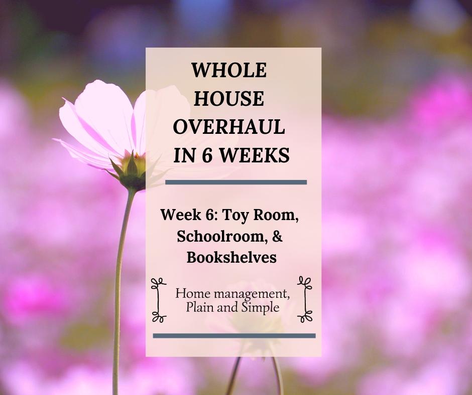 Whole House Overhaul in 6 Weeks: Week 6. Toy Room, Schoolroom, Bookshelves
