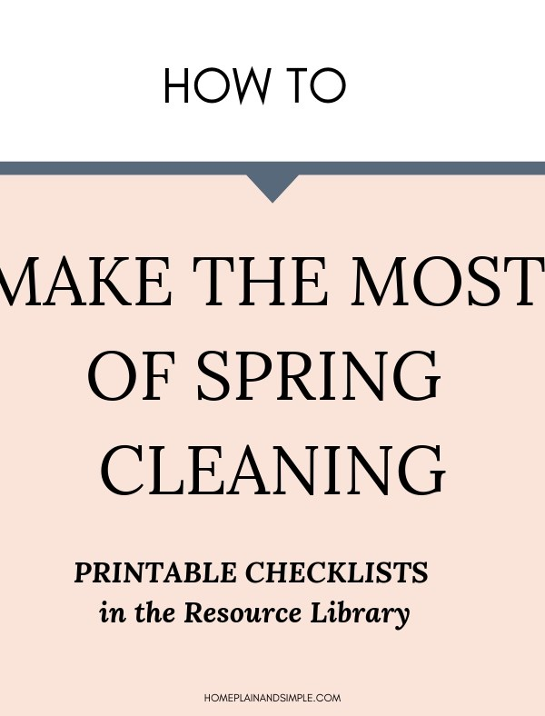 How to make the most of spring cleaning