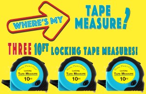 Where's My Tape Measure? - 3 pack of tape measures