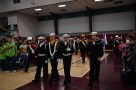 SILVERDALE, Wash. (Nov. 11, 2016) Members of the Knights of Columbus, Naval Sea Cadet Corps and Navy Jr. Reserve Officer Training Corps color guards parade the colors during the 2016 Veterans Day ceremony held in the Kitsap Sun Pavilion. The ceremony paid respect to service members both past and present and remembered those service members lost during the history of the United States. (U.S. Navy photo by Petty Officer 3rd Class Charles D. Gaddis IV/Released)