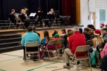 161214-N-ZP059-070 SILVERDALE Wash., (Dec. 14, 2016) Navy Band Northwest's Brass Quintet performs a holiday concert at Central Kitsap Middle School for parents, students and staff. This was the first time that the Brass Quintet has played at Central Kitsap Middle School. (U.S. Navy photo by Petty Officer 2nd Class Jacob G. Sisco/Released)
