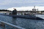 170127-N-SH284-104 BREMERTON, Wash. (Jan. 27, 2017) Los Angeles-class fast-attack submarine USS Olympia (SSN 717) arrives at Naval Base Kitsap-Bremerton, visiting the Pacific Northwest for the first time since 1998. During their stay, crew members will tour their namesake, Olympia, Washington, where they will help the community through conducting COMRELs, and take a tour the capitol and the Olympia Yacht club. (U.S. Navy photo by Mass Communication Specialist 2nd Class Vaughan Dill/Released)