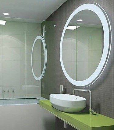 bathroom mirror with lights | home interiors