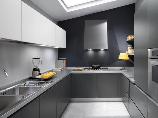High Quality Futuristic Atmosphere Grey Laminate Countertops Home Interiors