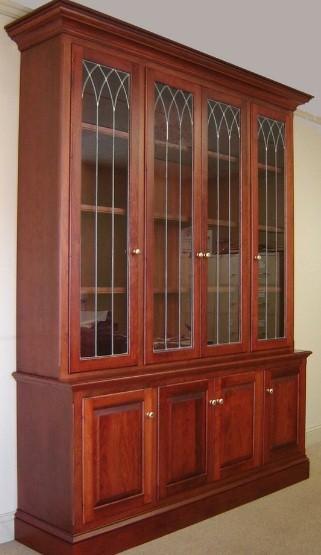 bookcase plans glass door
